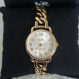 New Coach Delancy Chain Link Bracelet Watch